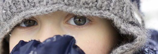 La peau de l'enfant et le grand froid