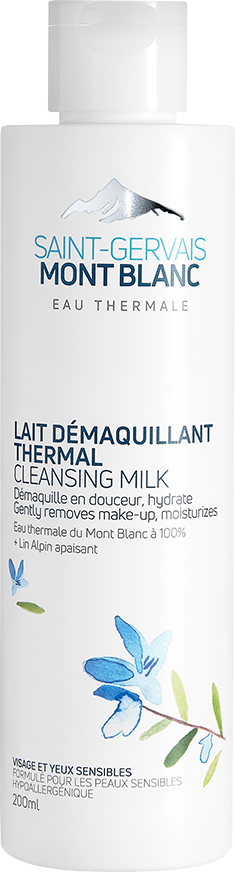 Lait démaquillant thermal